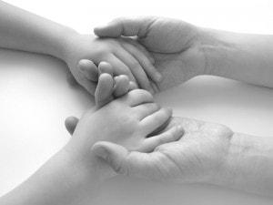 hands child